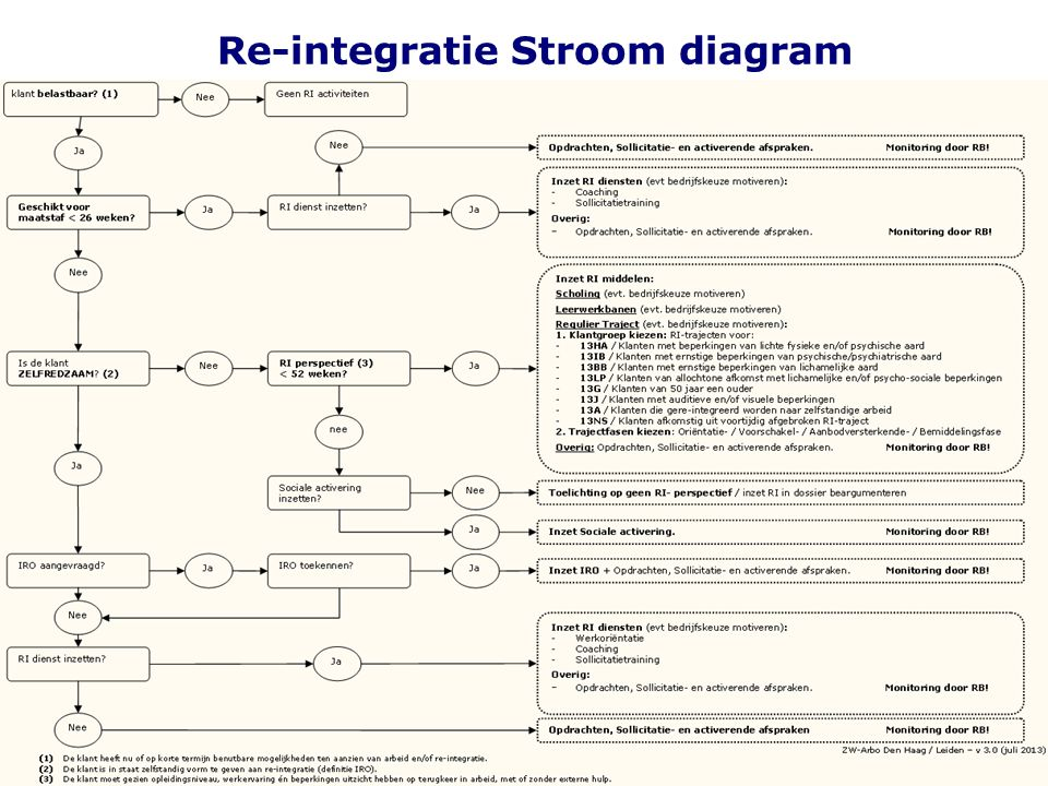 25 Re-integratie Stroom diagram