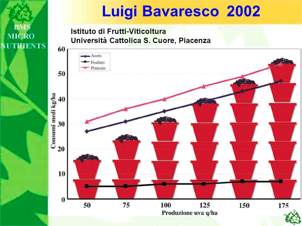 Luigi Bavaresco 2002 Istituto di Frutti-Viticoltura Università Cattolica S. Cuore, Piacenza