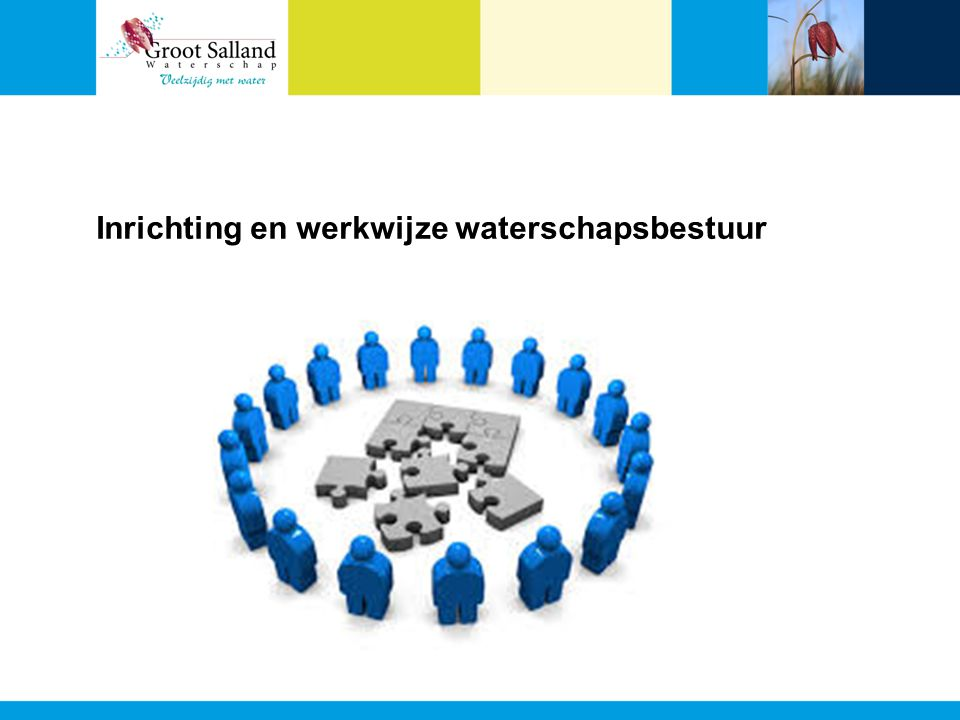 Inrichting en werkwijze waterschapsbestuur