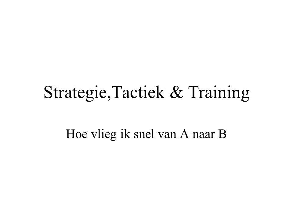Strategie,Tactiek & Training Hoe vlieg ik snel van A naar B