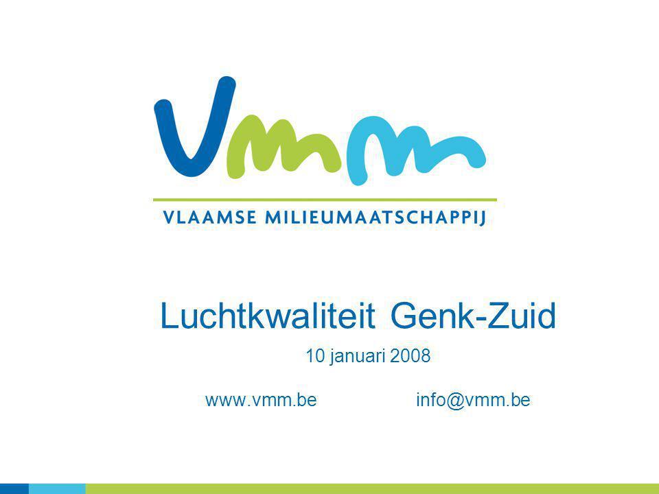 Luchtkwaliteit Genk-Zuid 10 januari 2008 www.vmm.be info@vmm.be