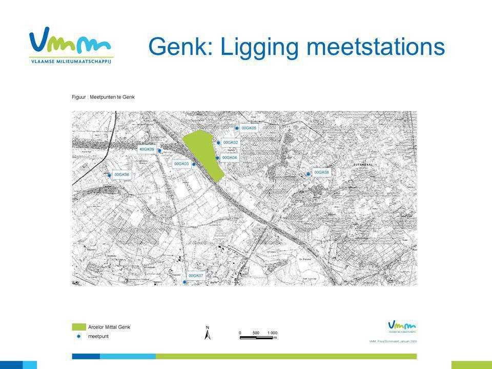 4 Genk: Ligging meetstations