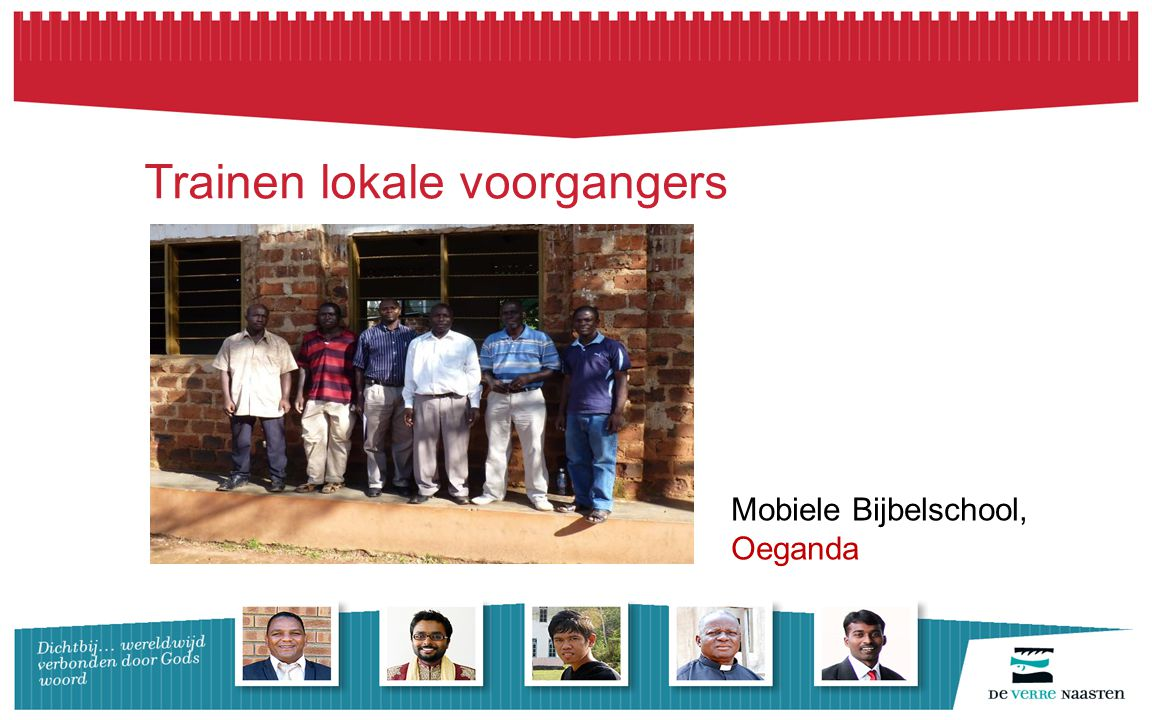 Trainen lokale voorgangers Mobiele Bijbelschool, Oeganda