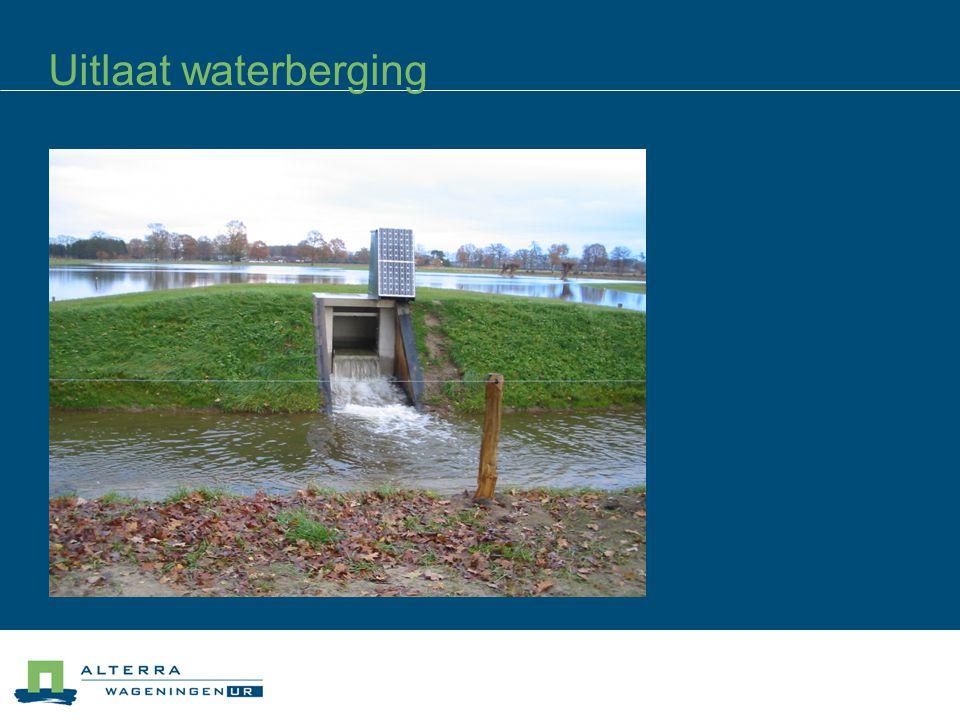Uitlaat waterberging