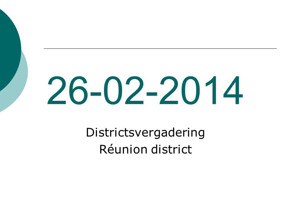 26-02-2014 Districtsvergadering Réunion district