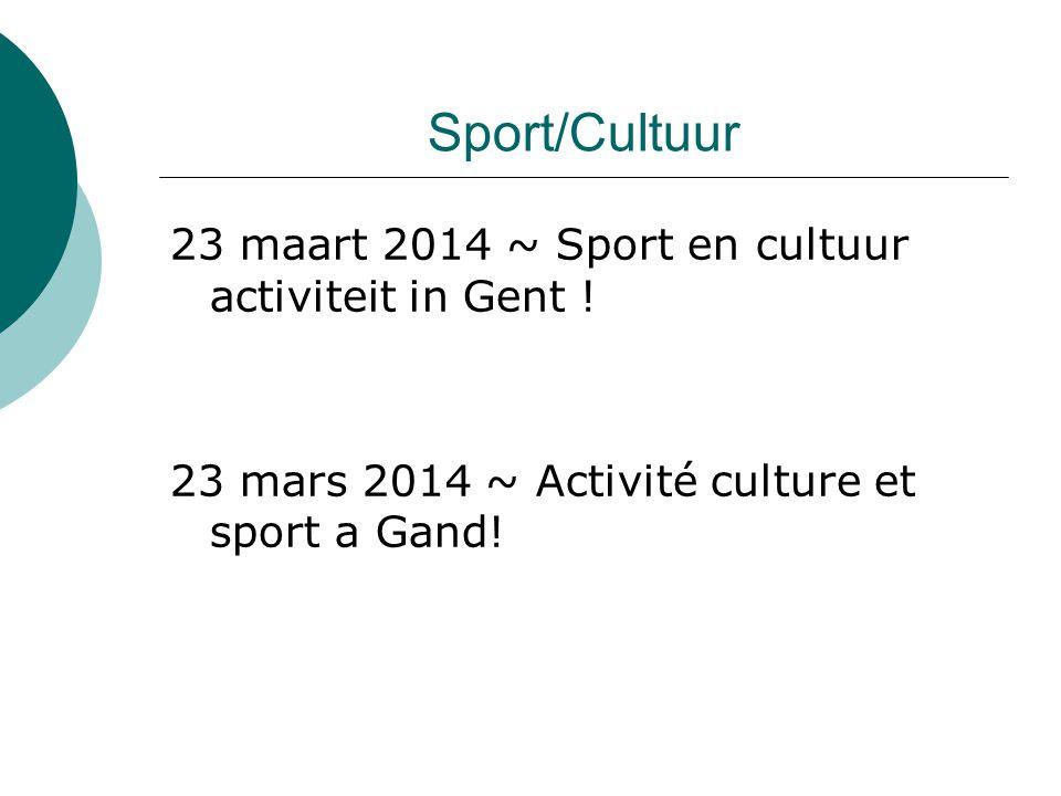 Activiteiten/Activités  12/04/2014 Sociale dag / journée sociale  12/04/2014 RTC Zoniën  26/04/2014 RTC Antwerpen Limo: Aqualimo  09/05/2014 RTC Brussels International