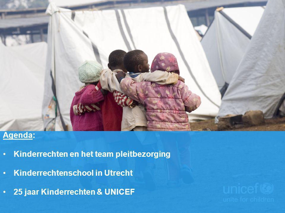 Agenda: Kinderrechten en het team pleitbezorging Kinderrechtenschool in Utrecht 25 jaar Kinderrechten & UNICEF