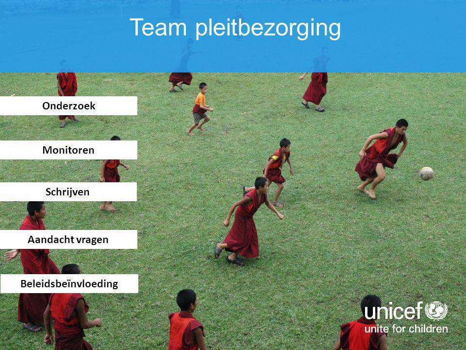Onderzoek Monitoren Schrijven Aandacht vragen Team pleitbezorging Beleidsbeïnvloeding
