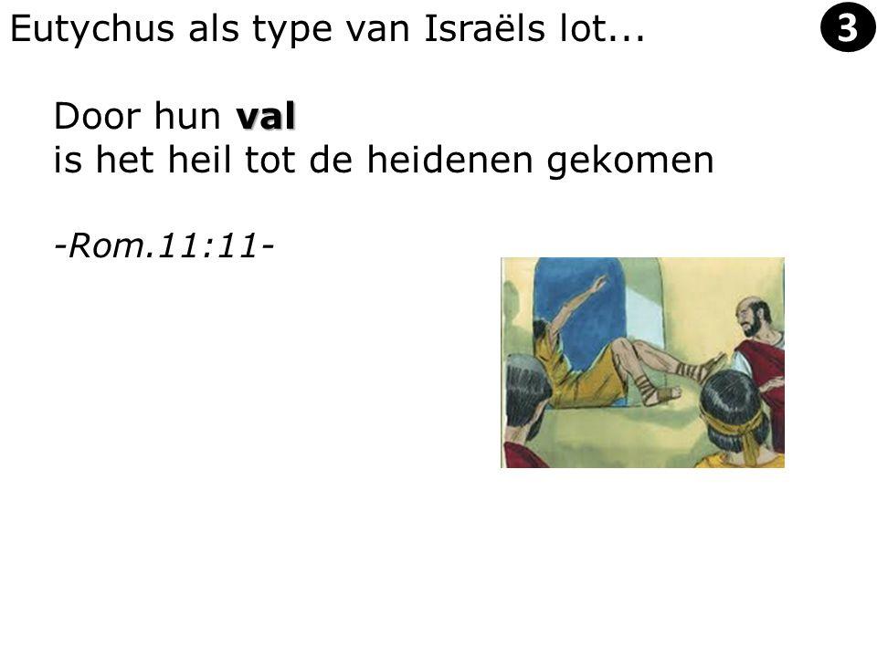 Eutychus als type van Israëls lot... val Door hun val is het heil tot de heidenen gekomen -Rom.11:11- 3
