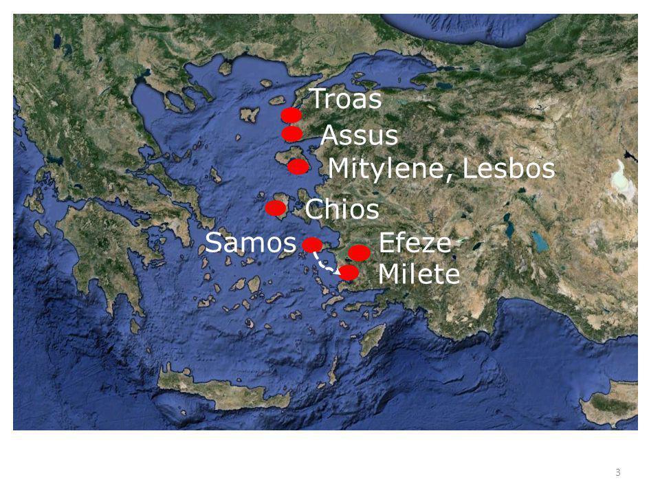 Troas Assus Mitylene, Lesbos Chios Milete Samos Efeze 3