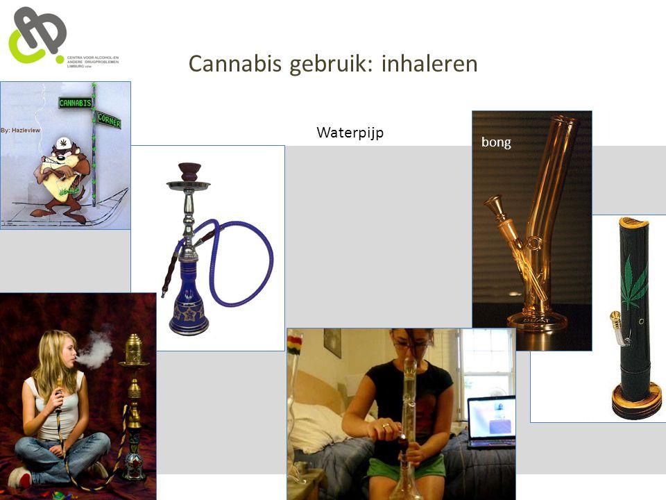 Cannabis gebruik: inhaleren Waterpijp bong