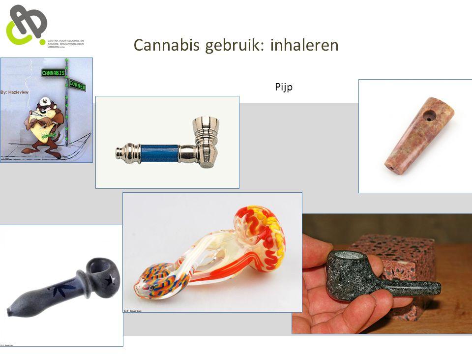 Cannabis gebruik: inhaleren Pijp