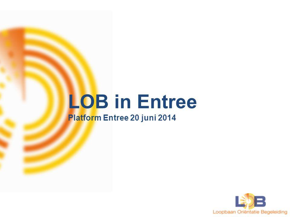 Aantal deelnemende instellingen LOB in MBO Op dit moment: 34 deelnemende onderwijsinstellingen Streven naar minimaal 50
