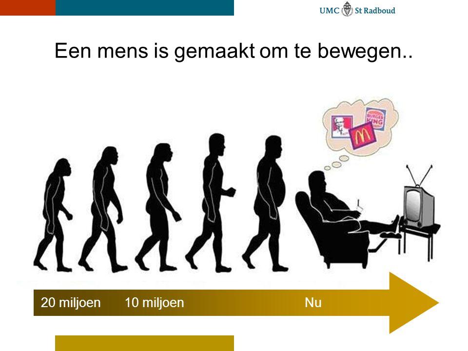 UMC St Radboud 0,4 0,2 0,6 0,8 1,0 Inactief Actief SporterNormaal Relatieve risico Het relatieve risico op kanker MSSE 2008 0