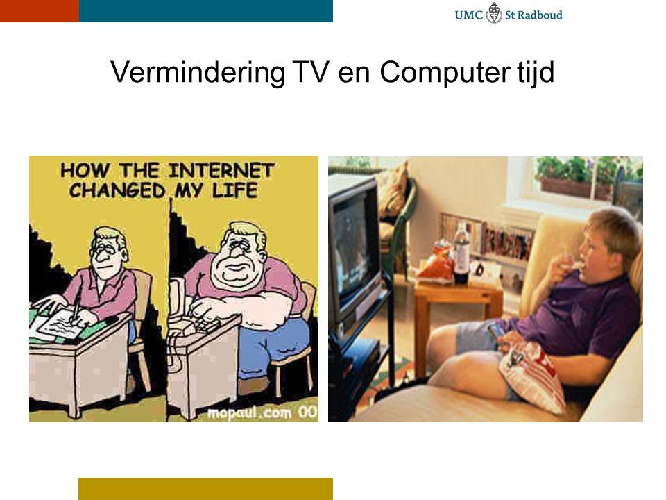 Vermindering TV en Computer tijd