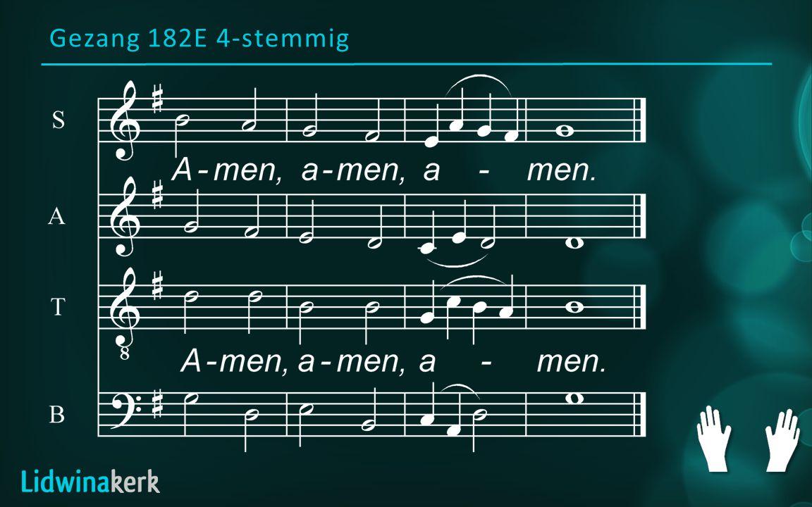 Gezang 182E 4-stemmig