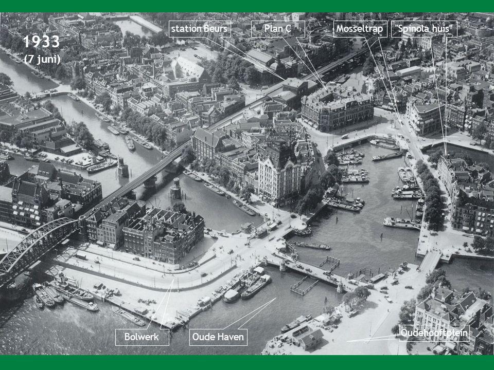 1933 (7 juni) station BeursPlan CMosseltrap Spinola huis Bolwerk Oude Haven Oudehooftplein