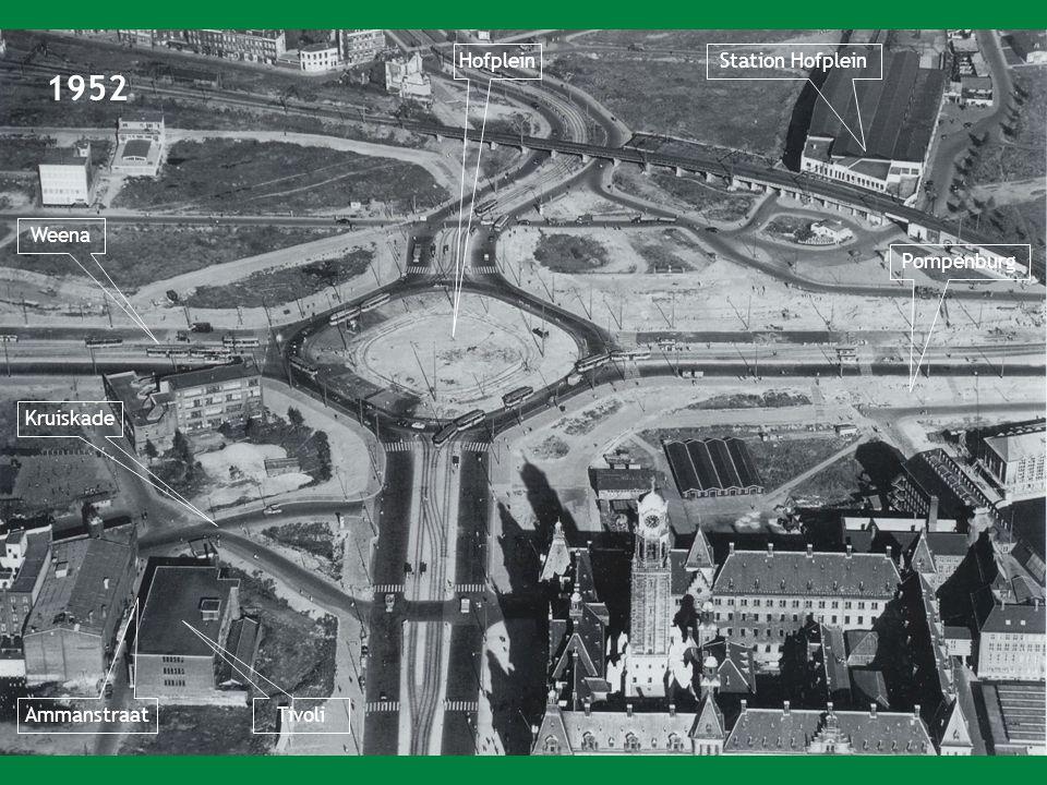1952 HofpleinStation Hofplein Weena Tivoli Ammanstraat Kruiskade Pompenburg