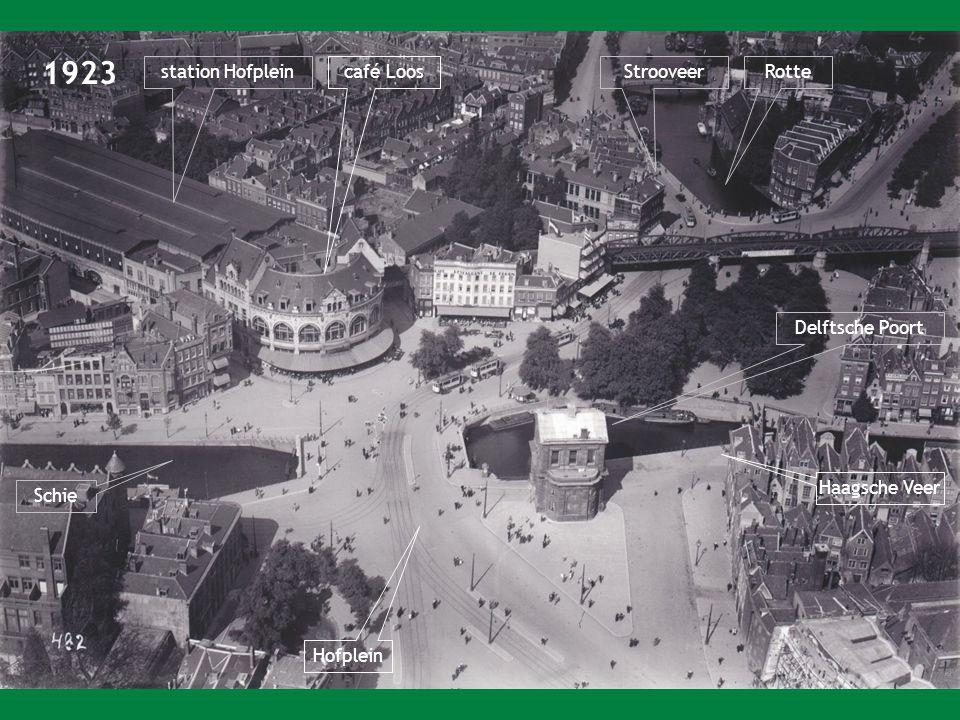 1923 station Hofpleincafé Loos Delftsche Poort Rotte Schie Haagsche Veer Hofplein Strooveer