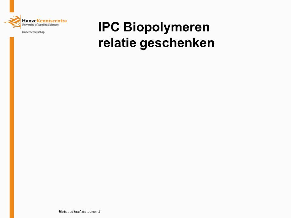 Biobased heeft de toekomst IPC Biopolymeren relatie geschenken