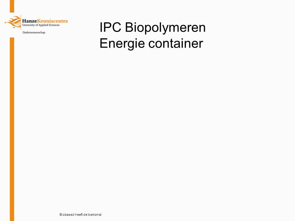 Biobased heeft de toekomst IPC Biopolymeren Energie container