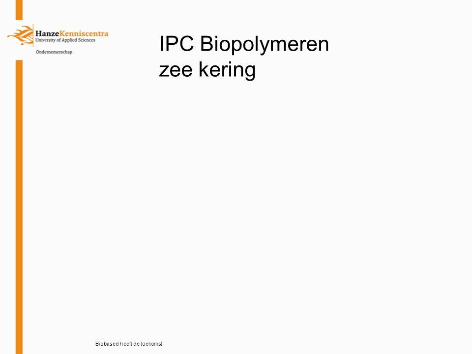 Biobased heeft de toekomst IPC Biopolymeren zee kering