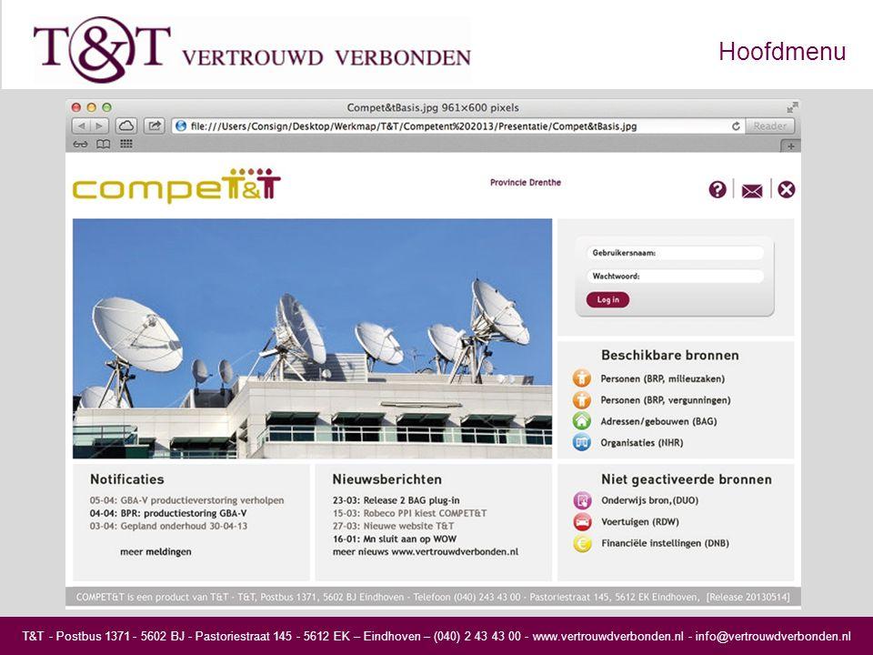 T&T - Postbus 1371 - 5602 BJ - Pastoriestraat 145 - 5612 EK – Eindhoven – (040) 2 43 43 00 - www.vertrouwdverbonden.nl - info@vertrouwdverbonden.nl Hoofdmenu