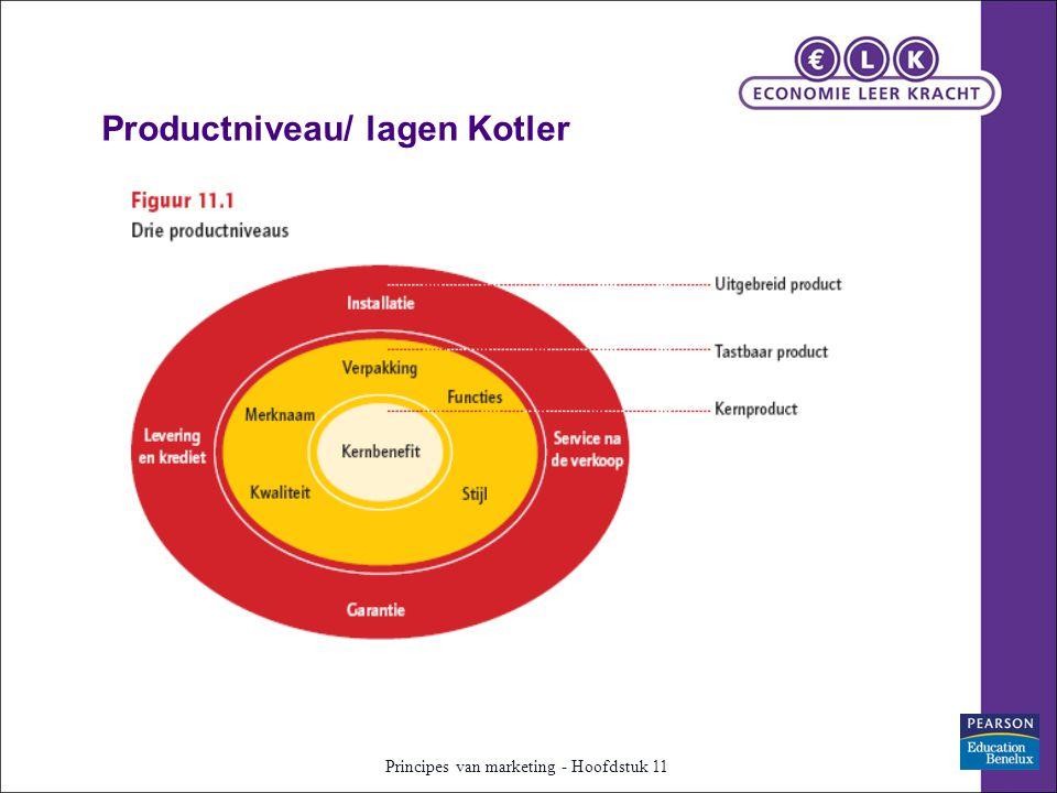 Productniveau/ lagen Kotler Principes van marketing - Hoofdstuk 11