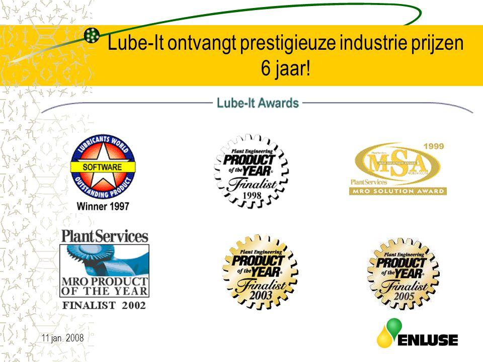 11 jan. 200814 Lube-It ontvangt prestigieuze industrie prijzen 6 jaar!