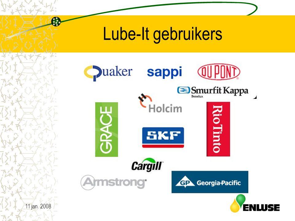 11 jan. 200818 Lube-It gebruikers
