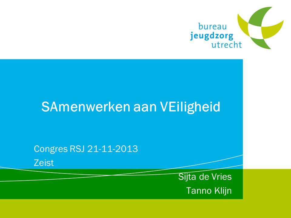 SAmenwerken aan VEiligheid Congres RSJ 21-11-2013 Zeist Sijta de Vries Tanno Klijn