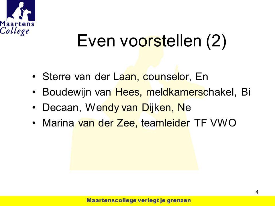 Even voorstellen (2) Sterre van der Laan, counselor, En Boudewijn van Hees, meldkamerschakel, Bi Decaan, Wendy van Dijken, Ne Marina van der Zee, team
