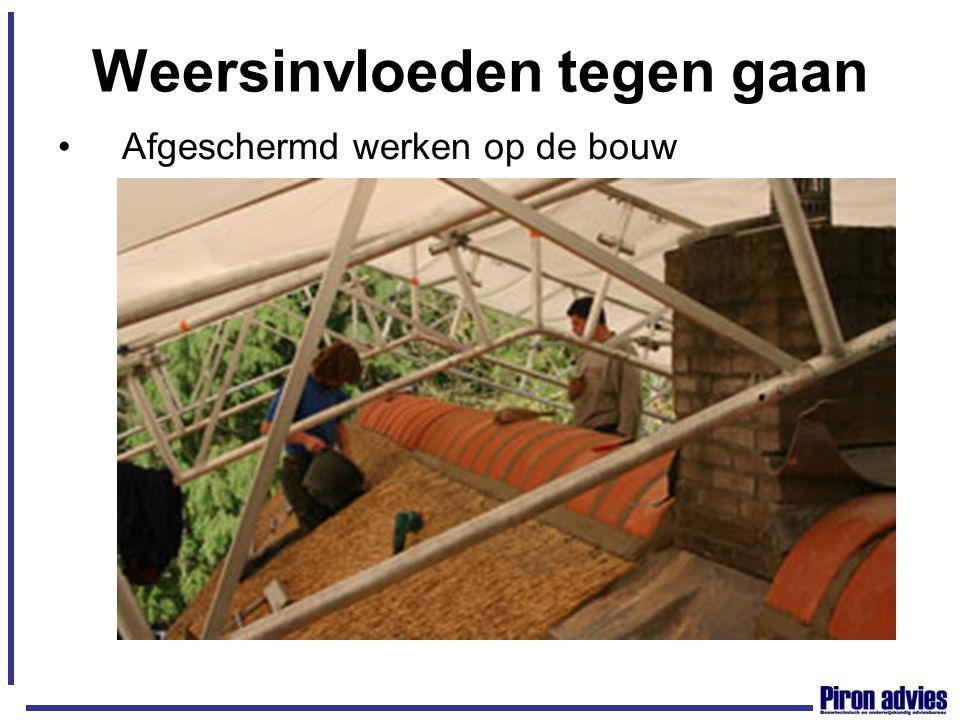 Weersinvloeden tegen gaan Afgeschermd werken op de bouw