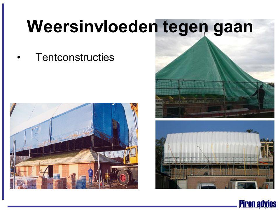 Weersinvloeden tegen gaan Tentconstructies