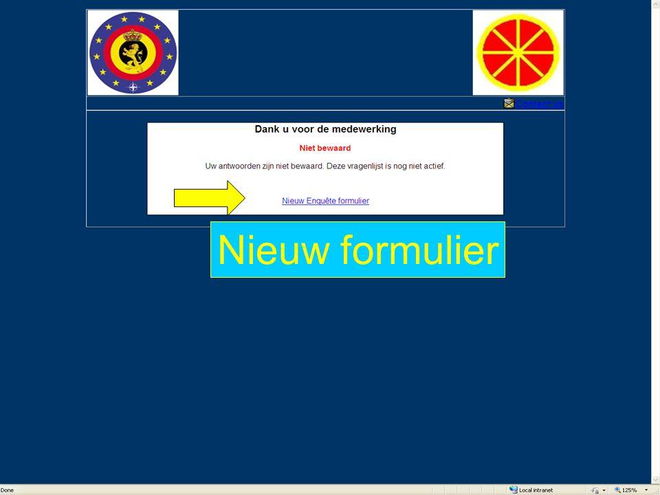 Nieuw formulier