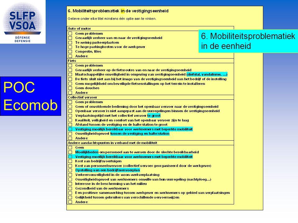 POC Ecomob 6. Mobiliteitsproblematiek in de eenheid