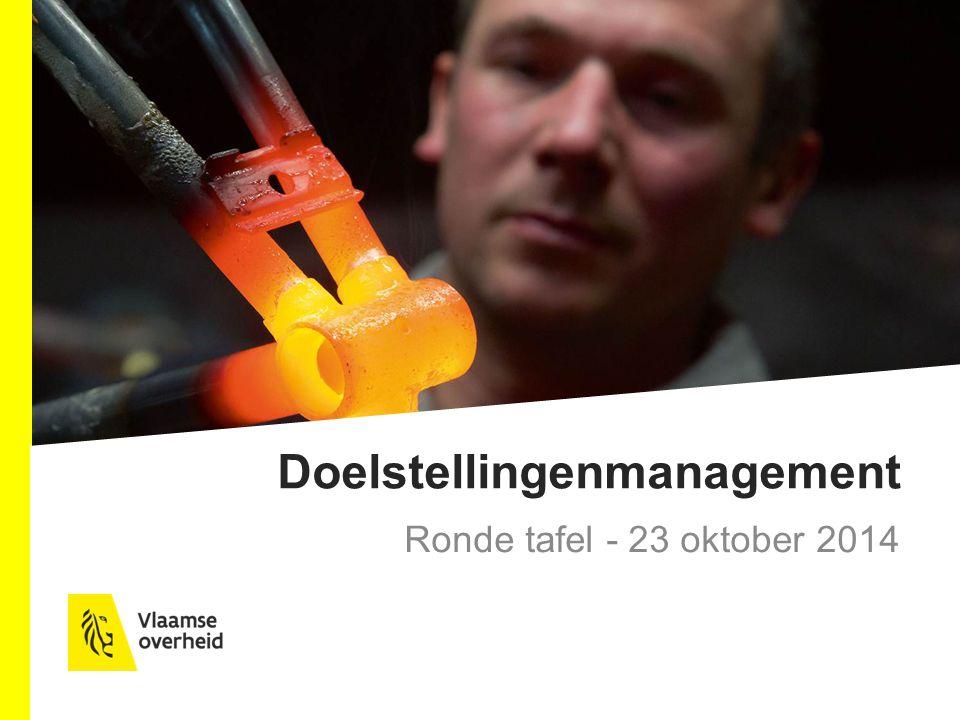 Doelstellingenmanagement Ronde tafel - 23 oktober 2014