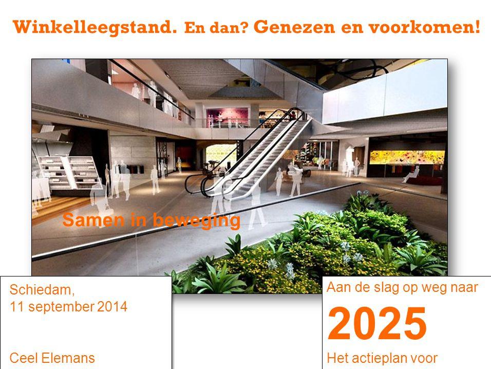 Schiedam, 11 september 2014 Ceel Elemans Winkelleegstand. En dan? Genezen en voorkomen! Samen in beweging Aan de slag op weg naar 2025 Het actieplan v