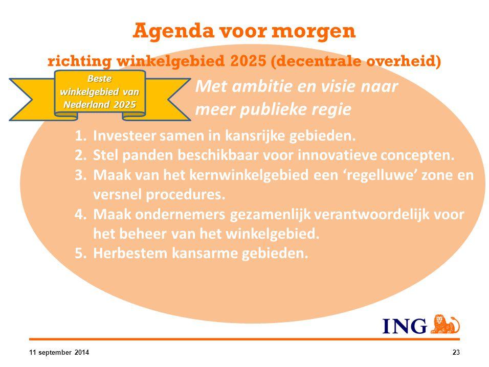Beste winkelgebied van Nederland 2025 1.Investeer samen in kansrijke gebieden. 2.Stel panden beschikbaar voor innovatieve concepten. 3.Maak van het ke