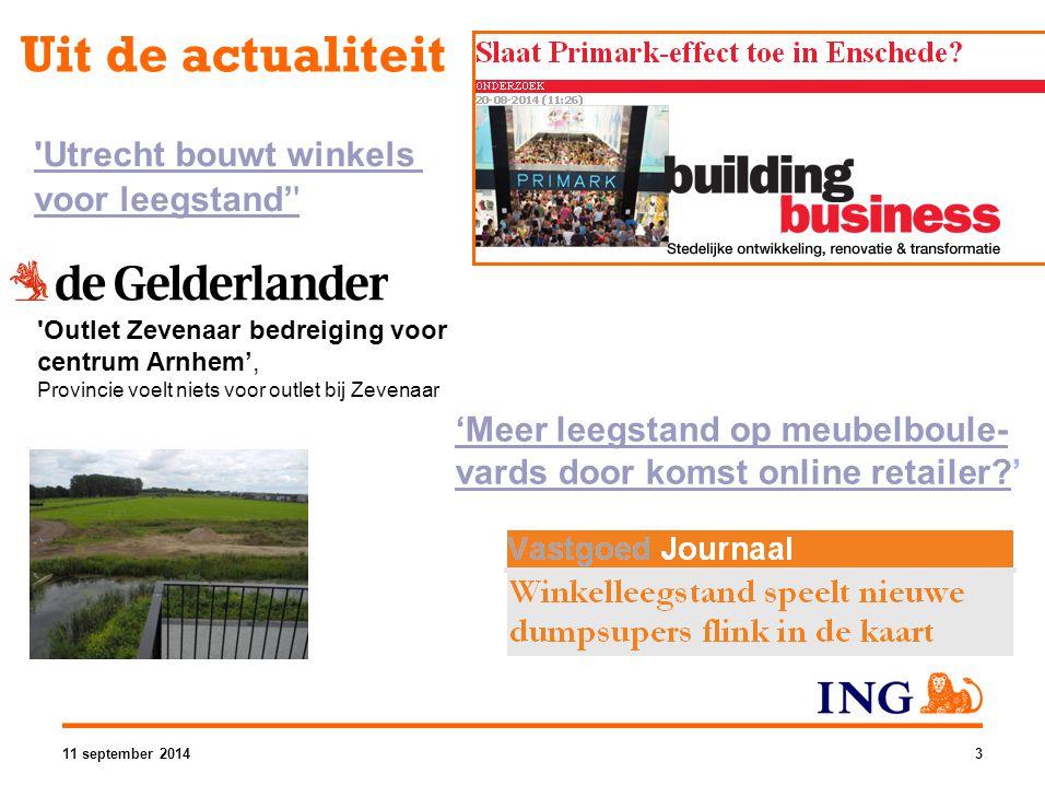 Uit de actualiteit 'Utrecht bouwt winkels voor leegstand'' 'Meer leegstand op meubelboule- vards door komst online retailer?'Meer leegstand op meubelb