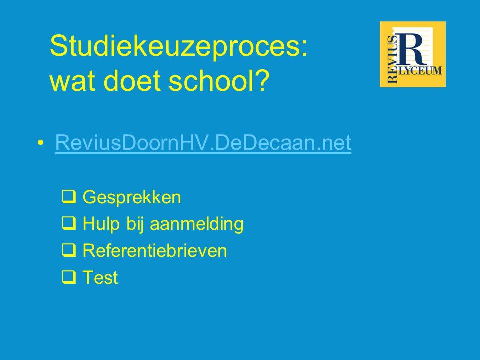 Studiekeuzeproces: wat doet school.
