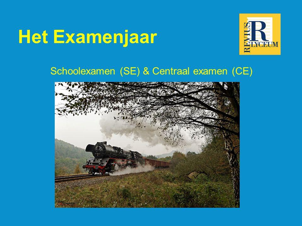 Het Examenjaar Schoolexamen (SE) & Centraal examen (CE)