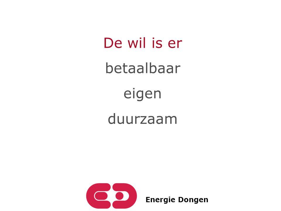 Energie Dongen De wil is er betaalbaar eigen duurzaam