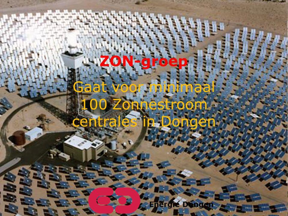 Energie Dongen ZON-groep Gaat voor minimaal 100 Zonnestroom centrales in Dongen