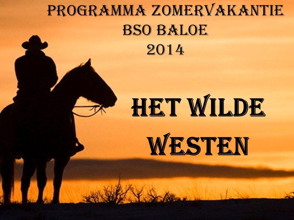 Programma Zomervakantie BSO Baloe 2014 Het Wilde Westen