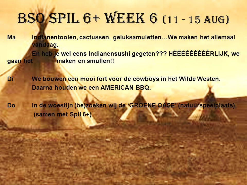 BSO Spil 6+ week 6 (11 - 15 aug) MaIndianentooien, cactussen, geluksamuletten…We maken het allemaal vandaag. En heb je wel eens Indianensushi gegeten?