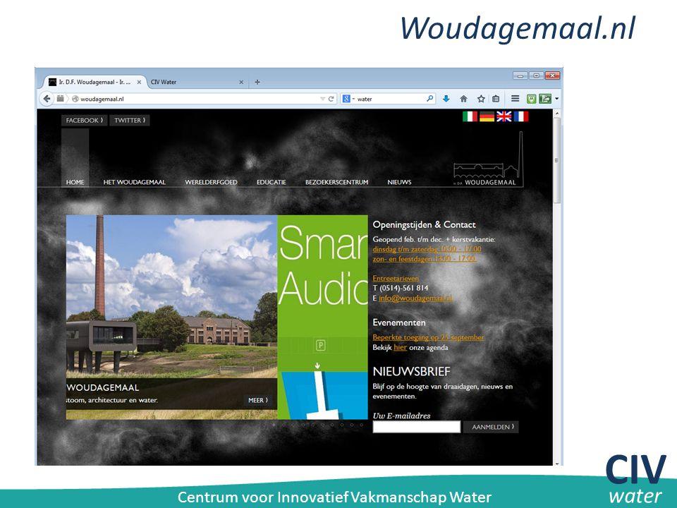 Woudagemaal.nl CIV water Centrum voor Innovatief Vakmanschap Water