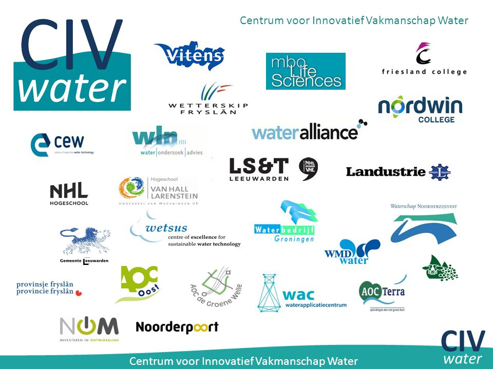 WaterCampus Leeuwarden HBOMBOWO BEDRIJVEN CIV water Centrum voor Innovatief Vakmanschap Water