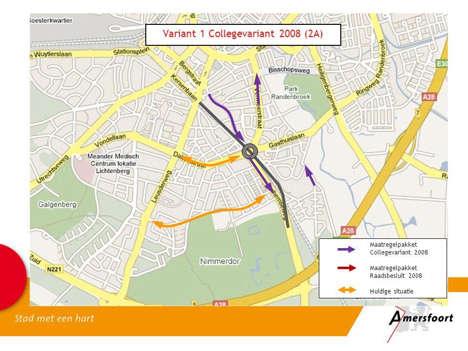 Maatregelpakket Collegevariant 2008 Maatregelpakket Raadsbesluit 2008 Huidige situatie Variant 1 Collegevariant 2008 (2A)