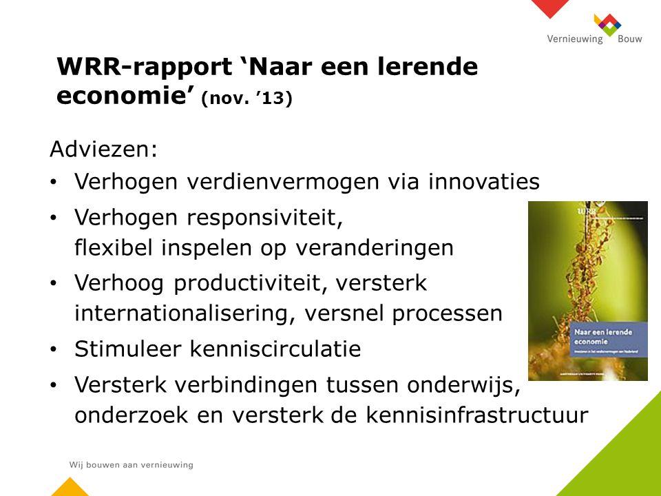WRR-rapport 'Naar een lerende economie' (nov.